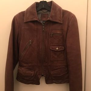 New condition Banana Republic leather moto jacket